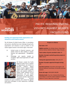 pacific regional ending violence against women facility