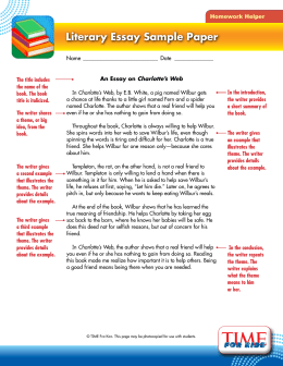 charlotte s web literacy skills teacher s guide