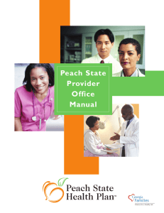 Peach State Provider Office Manual