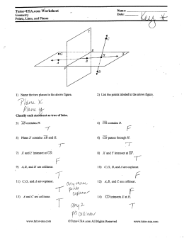 Section 1.1 Points, Lines, and Planes