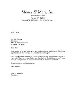 Money & More, Inc.