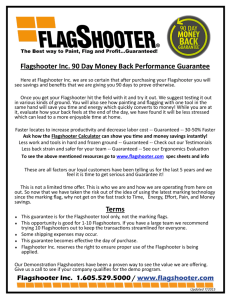 Flagshooter Inc. 90 Day Money Back Performance Guarantee Terms