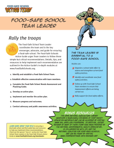 Rally the troops - National Coalition for Food