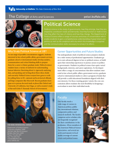 Political Science - College of Arts and Sciences