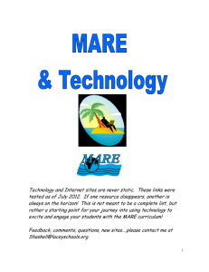 Technology and MARE