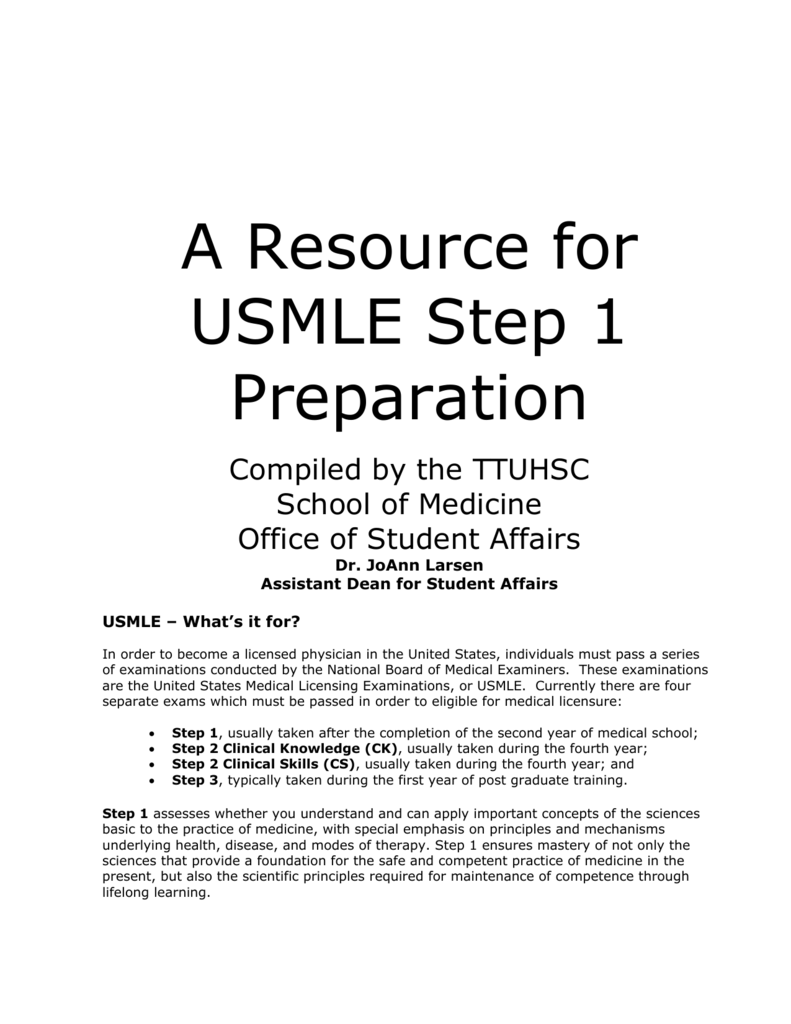 USMLE – What's it for