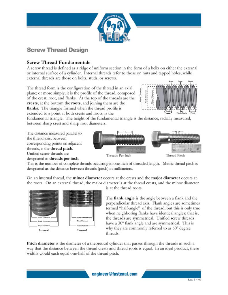 Screw Thread Design