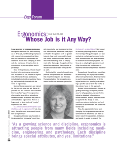 Who's job is it anyway? By Cindy Burt, OTA