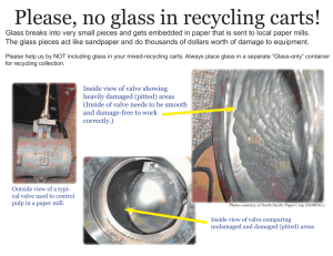 why we don't accept glass in mixed recycling carts