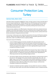 Consumer Protection Law, Turkey