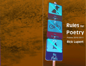 Rules for Poetry