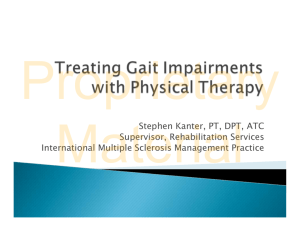 Treating Gait Impairments with Physical Therapy