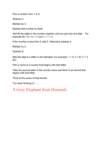 A Grey Elephant from Denmark