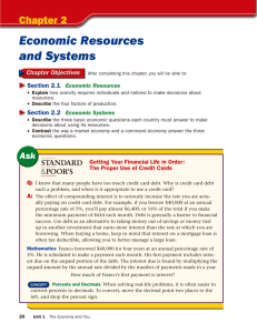 Economic Resources and Systems