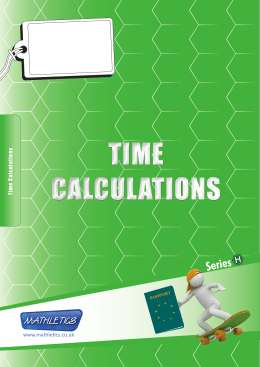 time calculations