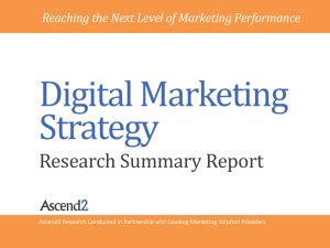 Digital Marketing Strategy Research Summary Report