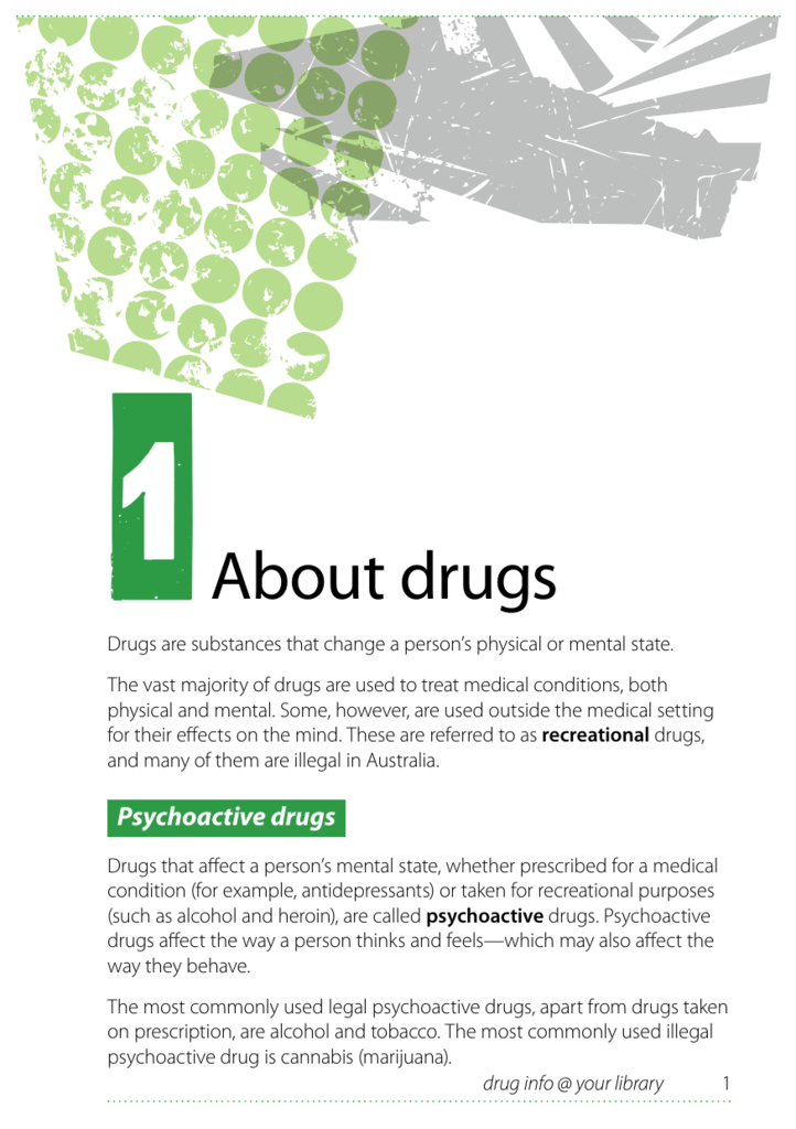 About drugs - Drug Info @ Your Library