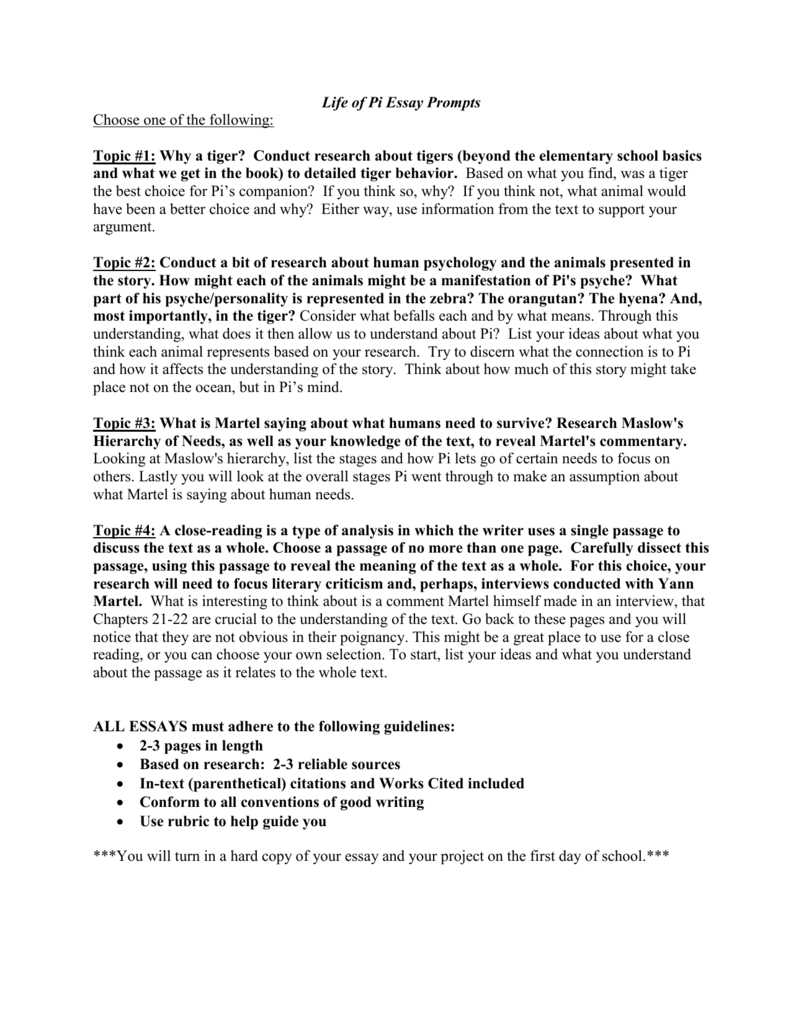 essay topics for elementary students