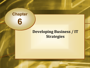 Developing Business / IT Strategies Chapter