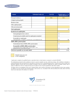 Your tax worksheet - Rusu Financial Inc.