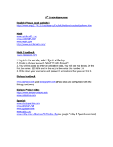 9th Grade Resources English (Vocab book website) http://www