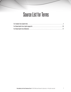 Source List for Terms