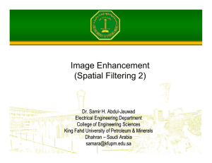 Image Enhancement (Spatial Filtering 2)