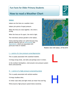 Fun Facts: How to read a Weather Chart