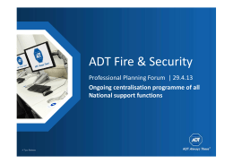 ADT Fire & Security - Professional Planning Forum