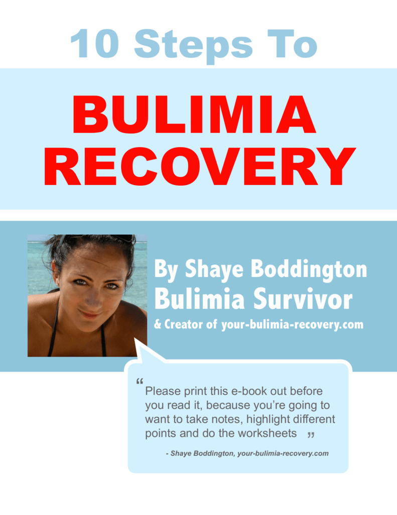 10 Steps To Bulimia Recovery