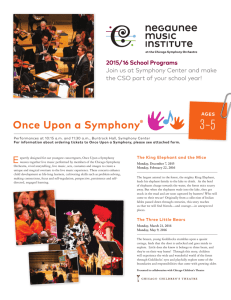 2015/16 School Programs - Chicago Symphony Orchestra