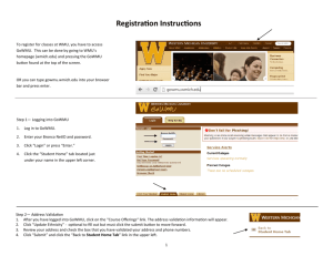 How to register for classes—a visual instruction guide