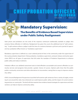 Mandatory Supervision - Chief Probation Officers of California