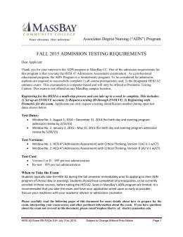 Hesi Mtsu Nursing Admission Assessment
