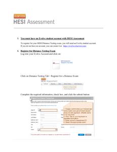Academic Grading Scale: - Denver School of Nursing