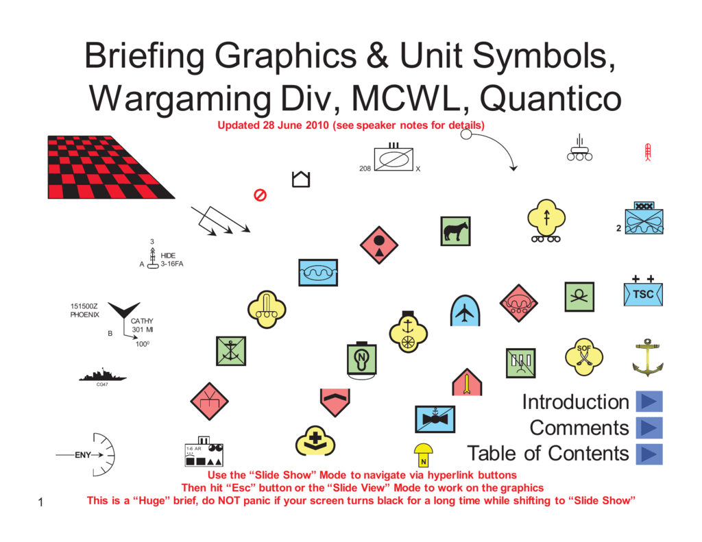 Briefing graphics and tactical symbols biocorpaavc