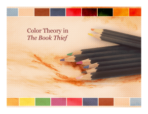 Color Theory in The Book Thief