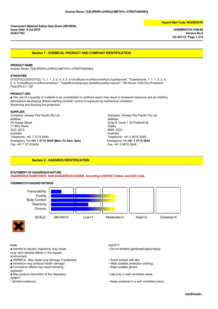 Novec 1230 E Fire Safety
