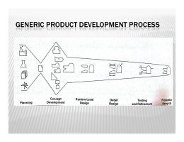 GENERIC PRODUCT DEVELOPMENT PROCESS