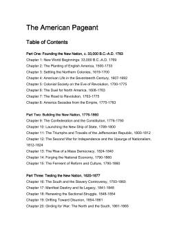 The American Pageant The American Pageant