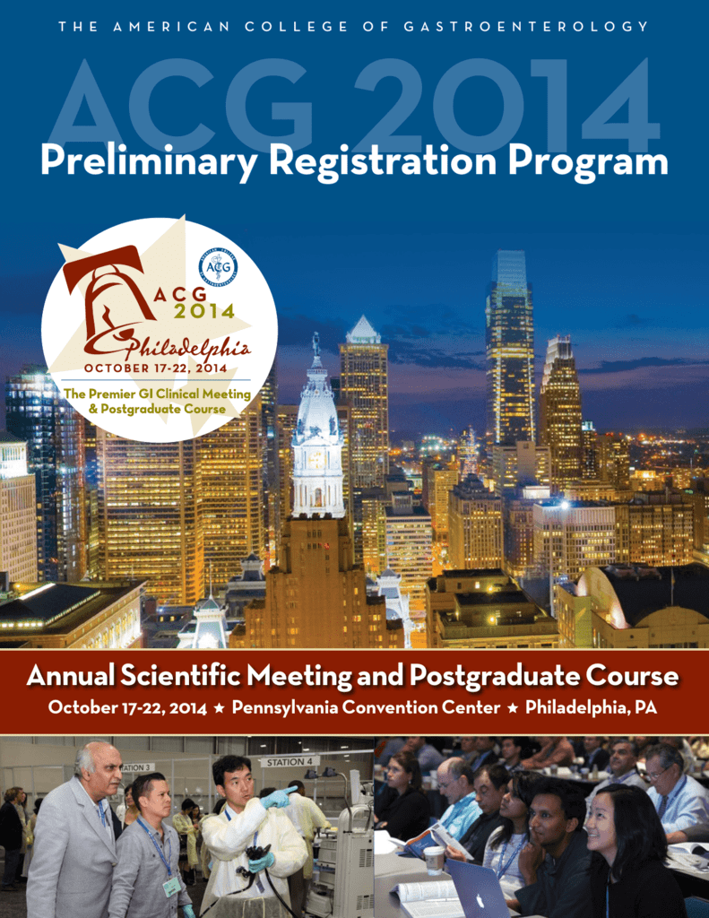 Preliminary Registration Program - ACG