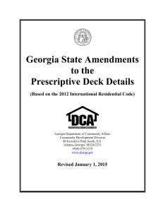 Georgia State Amendments to the Prescriptive Deck Details