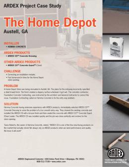 Ardex X Home Depot