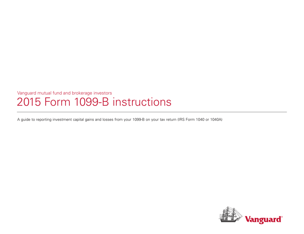 2015 Form 1099 B Instructions