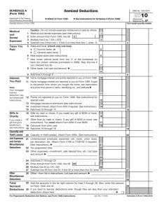 2011 Form 1040 (Schedule A)