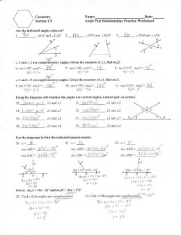 1.5 Angle Pair Relationships Practice Worksheet day 1.jnt