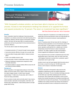 Nucor Wireless Case Study - Honeywell Process Solutions