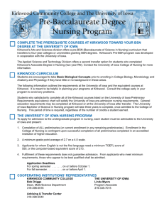 Pre-Baccalaureate Degree Nursing Program