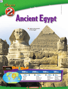 Chapter 2: Ancient Egypt