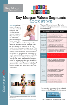 Roy Morgan Values Segments LOOK AT ME